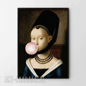 Plakat obraz dziewczyna z balonem 50x70 cm b2 hogstudio kobieta
