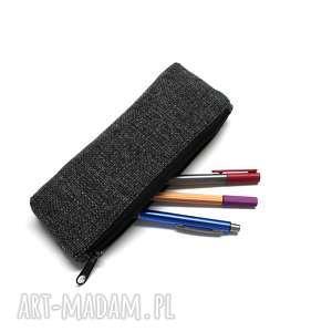 hand-made prezenty święta piórnik - tkanina antracyt