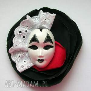 Broszka z Kolekcji Masquerade - Królewski Arlekin, broszka, maska, arlekin, król, paź