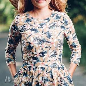 Letnia sukienka midi z wzorem w kwiaty rozmiar s, m, l, sukienka, midi,