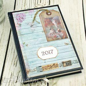 scrapbooking notesy kalendarz książkowy 2017-nasza stajnia, kalendarz, konie, prezent