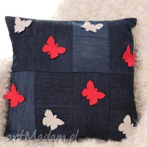 godeco poszewka na poduszkę motylki, poduszka, poszewka, dżisnowa
