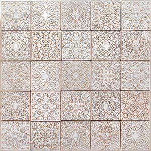 ceramika kafle białe arabeski, zestaw i, kafle, kafelki, płytki, dekory, ścienne