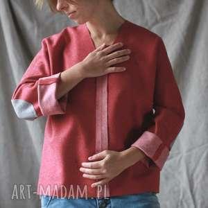 bluzy bluza wełniana z łatkami, zima, wełna, luźna, minmalistyczna, ciepła, łatki