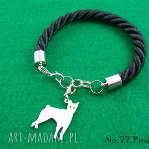 Bransoletka pinczer pies nr.77, bransoletka, pies, rasy-psów, rękodzieło,
