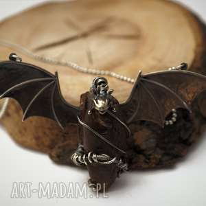 naszyjniki bursztynowy smok, bursztyn, fantasy, magia, natura, prezent
