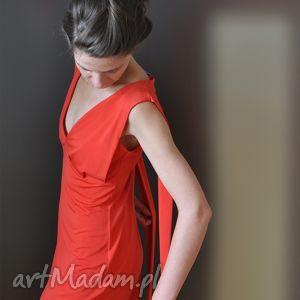 carmen - sukienka, czerwona, wieczorowa, koktajlowa, karnawałowa