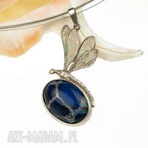 Prezent A579 Cesarska ważka -naszyjnik srebrny , naszyjnik-srebrny, naszyjnik-z-ważką