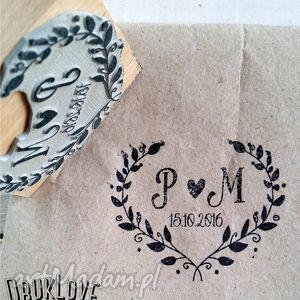 stempel serce - wysyłka ue, stempel, ślub, wesele, zaproszenia stemple