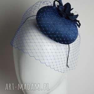 ręcznie robione ozdoby do włosów niebieski fascynator