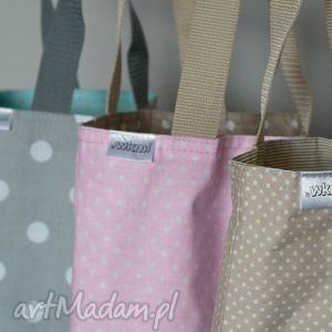 lunch bag by wkml - beżowy w białe kropki, lunch, śniadanie, kanapki, torba, beż