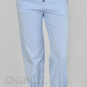 hand made spodnie pumpy agnes niebieskie