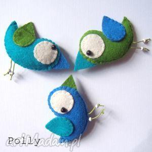 ręcznie robione broszki three little birds :) - przypinki