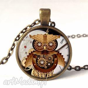 ręcznie zrobione naszyjniki sowa - medalion z łańcuszkiem