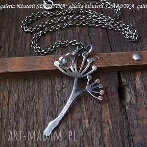 Z KROPLĄ ROSY naszyjnik z kryształu górskiego i srebra, kryształ, górski, kropla