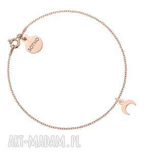 sotho bransoletka z małym księżycem różowego złota, bransoletka, srebro