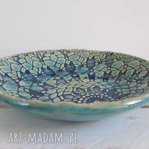 ceramika koronkowa miseczka, ceramika, ceramiczna miska, turkusowa