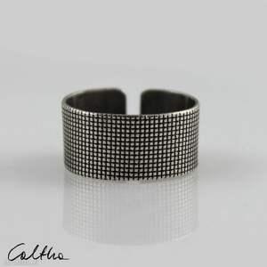 obrączki płótno - srebrna obrączka 191007-03 #, pierścień, pierścionek