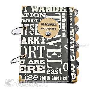 hand made scrapbooking albumy planer podróży, personalizowany prezent dla podróżnika, organizer