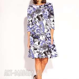 Sukienka Kesa, wiskozowa, letnia, wiosenna, wzorzysta, dzianinowa, kolorowa