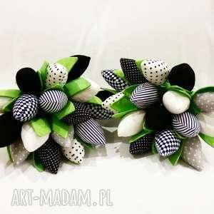 tulipany handmade z materiału bukiet - bukiet, tulipany, kwiaty, prezent, dekoracja