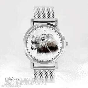 zegarek, bransoletka - niedźwiedź metalowy, bransoletka, metalowa