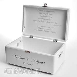 Prezent ślubny dla Pary Młodej, ozdobne-pudełko, pudełko-dekoracyjne, życzenia,