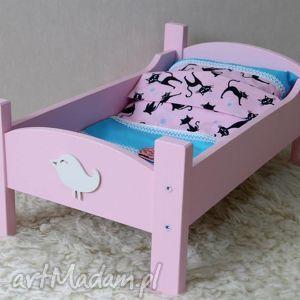 Drewniane łóżeczko dla lalek - ręcznie robione