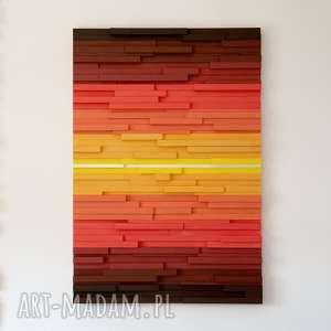 ręcznie robione dekoracje obraz drewniany 3d mozaika drewniana f1