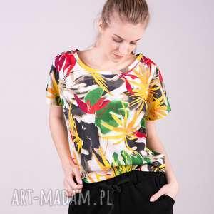 T-shirt damski klasyczny KOLOROWY, t-shirt, bluza, kurtka, sukienka, bluzka, spodnie