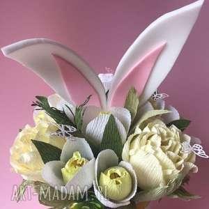 słodki bukiet prezent urodziny, bukiet, papierowe, kwiaty, super