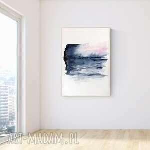 Obraz ręcznie malowany 70 x 100 cm, nowoczesna abstrakcja