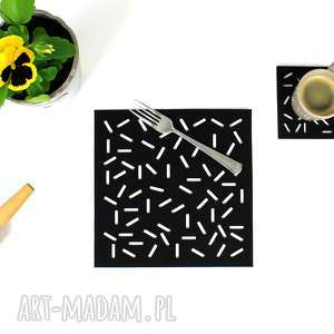 hand made podkładki serwetki filcowe patyczki - 4 szt