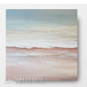 plaża-obraz akrylowy formatu 50/50 cm, pejzaż, kwadrat, akryl, obraz, płótno