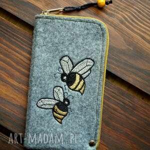 filcowe etui na telefon - pszczółki, smartfon, pokrowiec, futerał, natura
