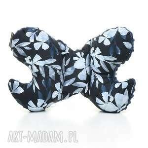 poduszka podróżna motylek motyl blue flowers pracownia - antywstrząsowa