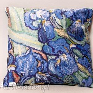Poszewka na mała poduszkę (jasiek) - van Gogh, Irysy, gogh, impresjonizm, sztuka
