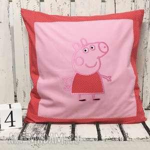 Poduszka z haftem PEPA 40x40cm Świnka, pepa, świnka, poduszka-pepa,