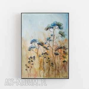 łąka-akwarela formatu 12,5/18 cm, akwarela, papier, łąka