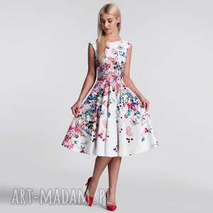 sukienka scarlett midi otylia, sukienka, midi, w kwiaty