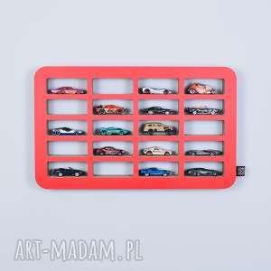 ecoono półka na resoraki samochodziki hot wheels czerwony, porządek