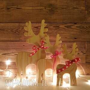 ozdoby świąteczne jelonek rodzina - 3 sztuki, jelonek, deer, święta, vintage