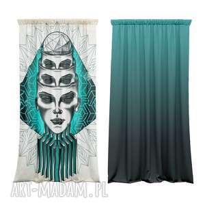 bawełniane zasłony z nadrukiem abstract 2 szt, bawełniane, fototapeta