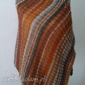 jesienne rudości ogromny szal - szal, poncho, dodatek