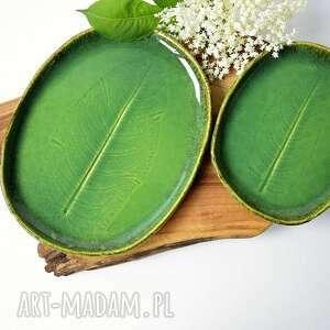 Zestaw ceramiczny - patera talerz dekoracyjny 2 szt ceramika