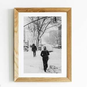 zimowy nowy jork/new york winter 30x40 - autorska fotografia czarno biała