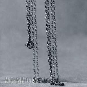 naszyjniki łańcuszek typu ankier z oksydowanego srebra próby 925