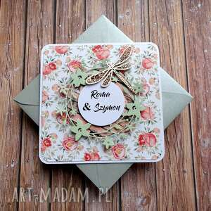 Dotyk wiosny scrapbooking kartki cynamonowe ślub, imieniny