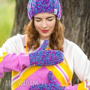 rękawiczki skarby lasu, rękawiczki, zimowe, na sznurku, ciepłe, cool, kolorowe