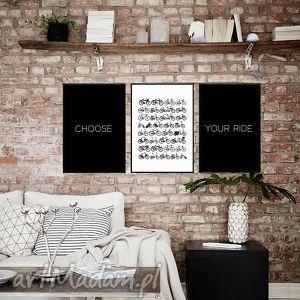 Grafiki B2 Choose Your Ride, grafiki, zestaw, obraz, rower, plakat, ścianę